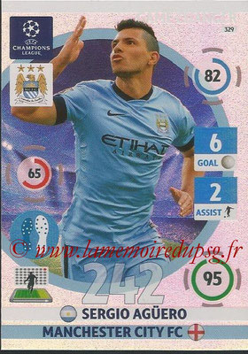 2014-15 - Adrenalyn XL champions League N° 329 - Sergio Aguero (Manchester City FC) (Game Changer)