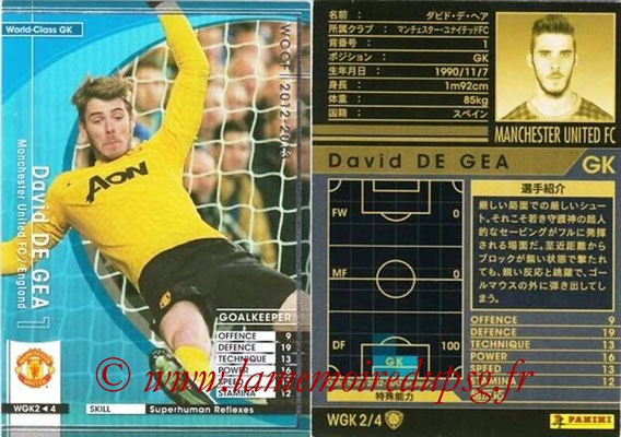 2012-13 - WCCF - N° WGK2 - David DE GEA (Manchester United FC) (World Class GK)