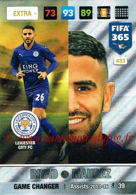 2016-17 - Panini Adrenalyn XL FIFA 365 - N° 433 - Riyad MAHREZ (Leicester City FC) (Game Changer) (Nordic Edition)