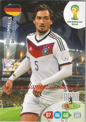 2014 - Panini FIFA World Cup Brazil Adrenalyn XL - N° 106 - Mats HUMMELS (Allemagne)