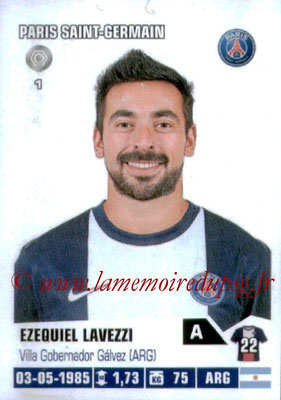 2013-14 - Panini N° 333 - Ezequiel LAVEZZI