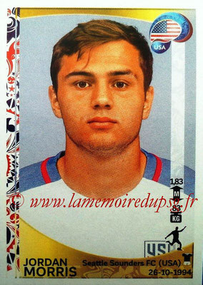 Panini Copa America Centenario USA 2016 Stickers - N° 037 - Jordan MORRIS (USA)