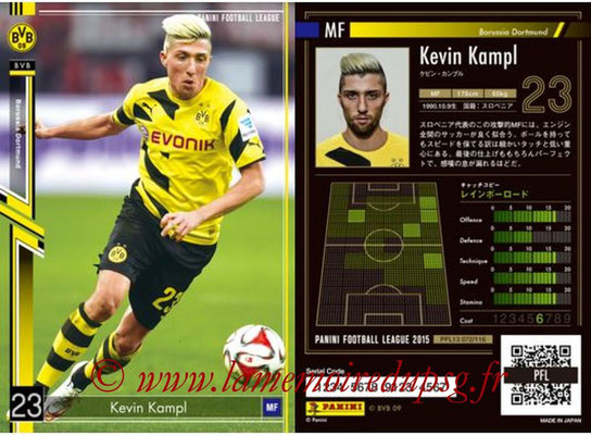 Panini Football League 2015 - PFL13 - N° 072 - Kevin KAMPL (Borussia Dortmund)