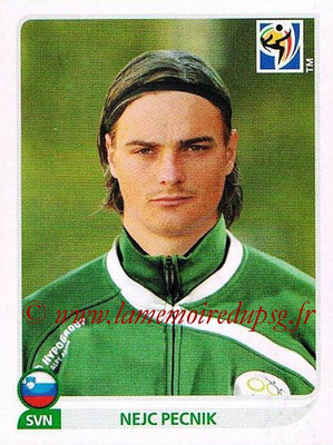 2010 - Panini FIFA World Cup South Africa Stickers - N° 253 - Nejc PECNIK (Slovenie)