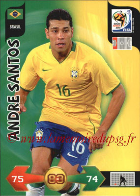 2010 - Panini FIFA World Cup South Africa Adrenalyn XL - N° 037 - Andre SANTOS (Bresil)