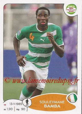 2014 - Panini Road to FIFA World Cup Brazil Stickers - N° 384 - Souleymane BAMBA (Côte d'Ivoire)