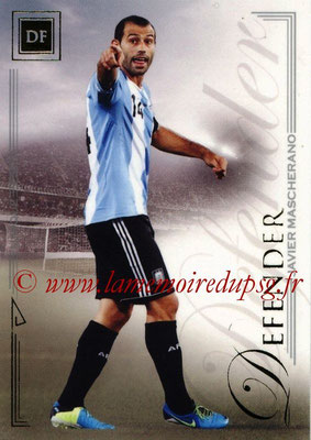 2014 - Futera World Football Unique - N° 023 - Javier MASCHERANO (Defender)