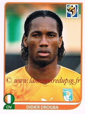 2010 - Panini FIFA World Cup South Africa Stickers - N° 542 - Didier DROGBA (Côte d'Ivoire)