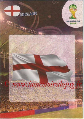 2014 - Panini FIFA World Cup Brazil Adrenalyn XL - N° 127 - Logo Angleterre