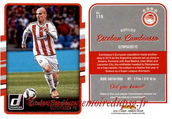 2016 - Panini Donruss Cards - N° 119 - Esteban CAMBIASSO (Olympiacos FC)