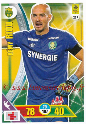 2017-18 - Panini Adrenalyn XL Ligue 1 - N° 217 - Rémy RIOU (Nantes)