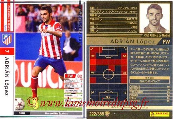 2013-14 - WCCF - N° 222 - Adrian LOPEZ (Atletico Madrid)