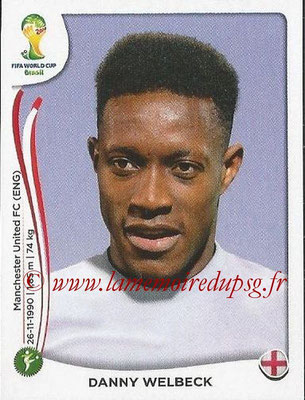 2014 - Panini FIFA World Cup Brazil Stickers - N° 314 - Danny WELBECK (Angleterre)