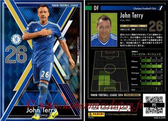 Panini Football League 2014 - PFL07 - N° 149 - John TERRY (Chelsea FC) (Stopper)