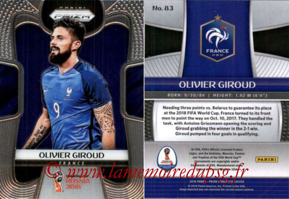 2018 - Panini Prizm FIFA World Cup Russia - N° 083 - Olivier GIROUD (France)