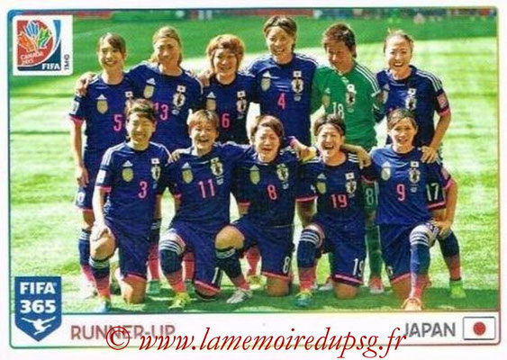 2015-16 - Panini FIFA 365 Stickers - N° 068 - Japon (Runner-Up) (FIFA Women's World Cup)
