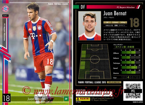 Panini Football League 2015 - PFL10 - N° 066 - Juan BERNAT (Bayern Munich)