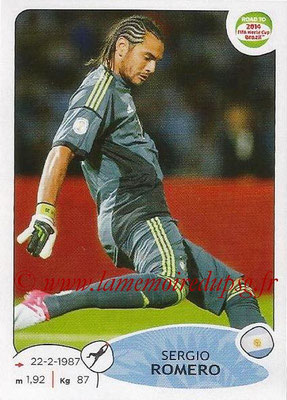 2014 - Panini Road to FIFA World Cup Brazil Stickers - N° 055 - Sergio ROMERO (Argentine)