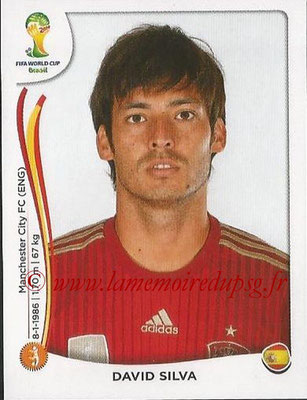 2014 - Panini FIFA World Cup Brazil Stickers - N° 121 - David SILVA (Espagne)
