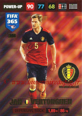 2016-17 - Panini Adrenalyn XL FIFA 365 - N° 356 - Jan VERTONGHEM (Belgique) (Defensive Rock)