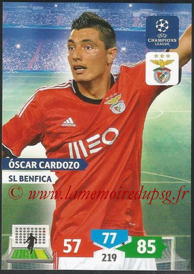 2013-14 - Adrenalyn XL champions League N° 098 - Oscar CARDOZO (SL Benfica)