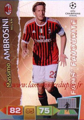 2011-12 - Panini Champions League Cards - N° 314 - Massimo AMBROSINI (Milan AC) (Fans' Favourite)