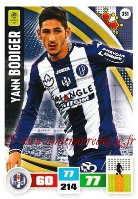 2016-17 - Panini Adrenalyn XL Ligue 1 - N° 351 - Yann BODIGER (Toulouse)