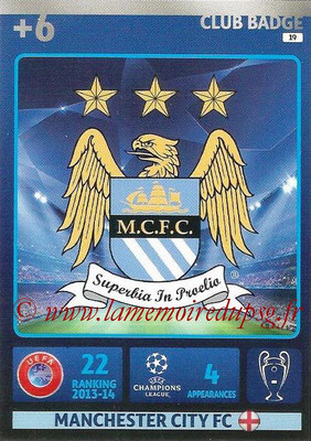 2014-15 - Adrenalyn XL champions League N° 019 - Logo Manchester City FC (Club Badge)