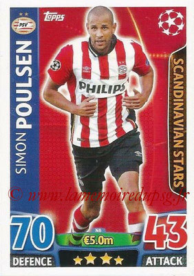 2015-16 - Topps UEFA Champions League Match Attax - N° N06 - Simon POULSEN (PSV Eindhoven) (Scandinavian Stars) (Nordic Edition)