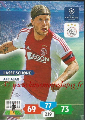 2013-14 - Adrenalyn XL champions League N° 034 - Lasse SCHONE (AFC Ajax)