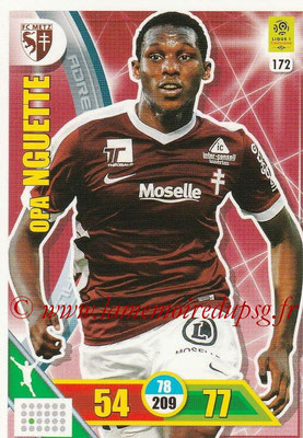 2017-18 - Panini Adrenalyn XL Ligue 1 - N° 172 - Opa NGUETTE (Metz)