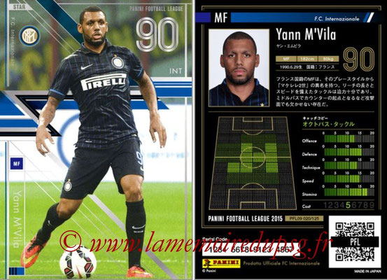 Panini Football League 2015 - PFL09 - N° 020 - Yann M'VILA (Inter) (Star)