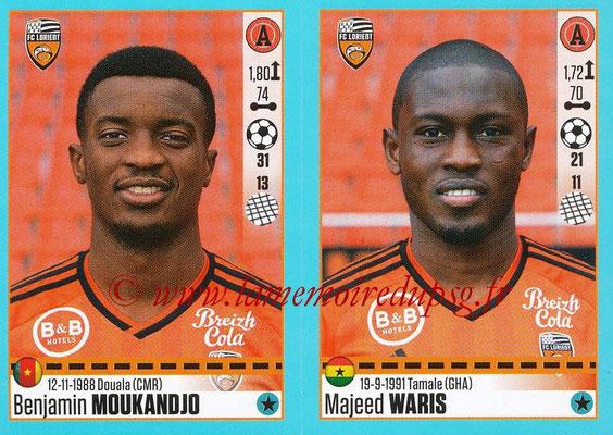 2016-17 - Panini Ligue 1 Stickers - N° 336 + 337 - Benjamin MOUKANDJO + Majeed WARIS (Lorient)