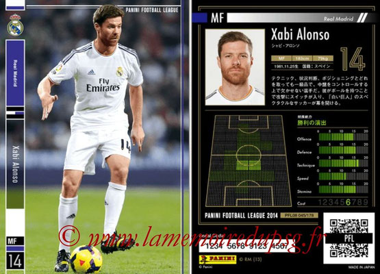 Panini Football League 2014 - PFL08 - N° 045 - Xabi ALSONSO (Real Madrid)