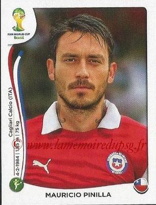2014 - Panini FIFA World Cup Brazil Stickers - N° 162 - Mauricio PINILLA (Chili)