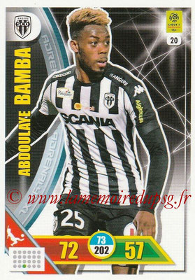 2017-18 - Panini Adrenalyn XL Ligue 1 - N° 020 - Abdoulaye BAMBA (Angers)
