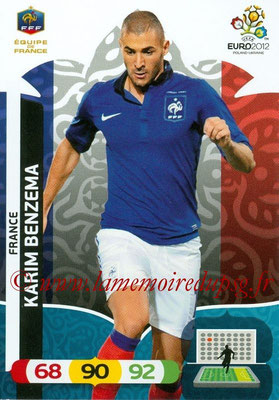 Panini Euro 2012 Cards Adrenalyn XL - N° 089 - Karim BENZEMA (France)