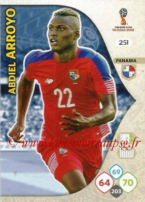 2018 - Panini FIFA World Cup Russia Adrenalyn XL - N° 251 - Abdiel ARROYO (Panama)