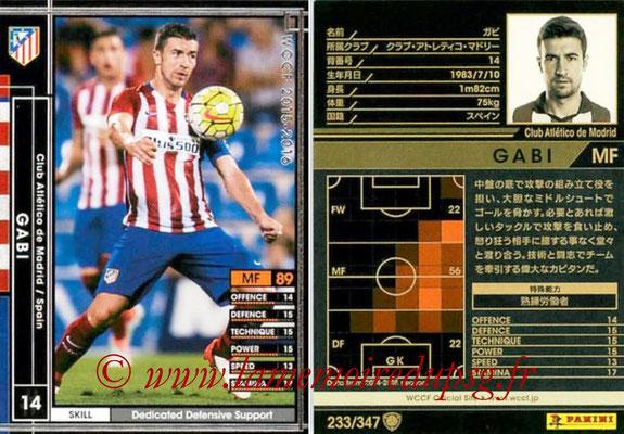 2015-16 - Panini WCCF - N° 233 - GABI (Club Atlético de Madrid)