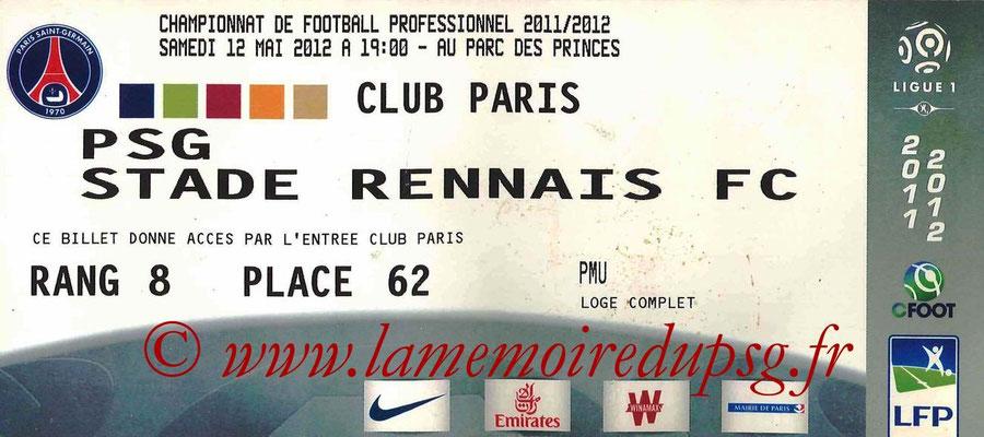 Tickets  PSG-Rennes  2011-12