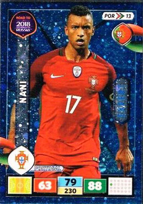 2018 - Panini Road to FIFA World Cup Russia Adrenalyn XL - N° POR13 - NANI (Portugal) (Expert)