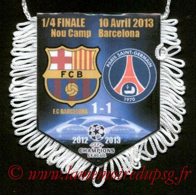 Fanion  Barcelone-PSG  2012-13
