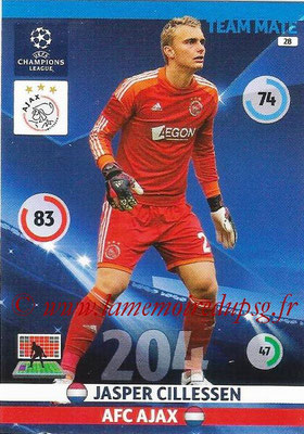 2014-15 - Adrenalyn XL champions League N° 028 - Jasper CILLESSEN (AFC Ajax)
