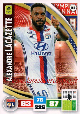 2016-17 - Panini Adrenalyn XL Ligue 1 - N° 156 - Alexandre LACAZETTE (Lyon)