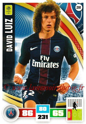 2016-17 - Panini Adrenalyn XL Ligue 1 - N° 291 - David LUIZ (Paris Saint-Germain)