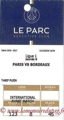 Tickets  PSG-Bordeaux  2016-17