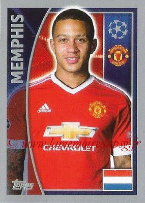 2015-16 - Topps UEFA Champions League Stickers - N° 115 - MEMPHIS (Manchester United FC)