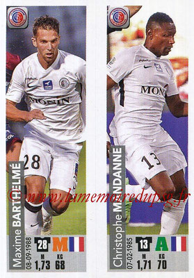 2018-19 - Panini Ligue 1 Stickers - N° 527 - Maxime BARTHELME + Christophe MANDANNE (LB Chateauroux)