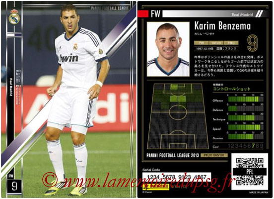 Panini Football League 2013 - PFL01 - N° 065 - Karim Benzema ( Real Madrid )