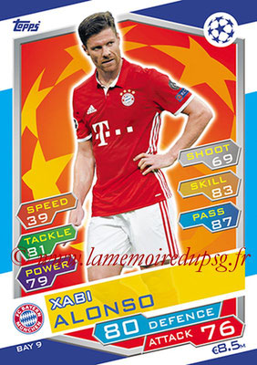 2016-17 - Topps UEFA Champions League Match Attax - N° BAY9 - Xabi ALONSO (FC Bayern Munich)